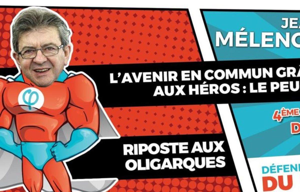 Mélenchon en super-héros – Capture Twitter @maxtweete