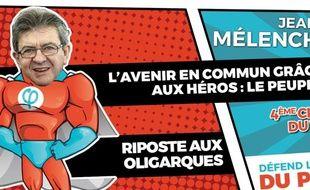 Mélenchon en super-héros