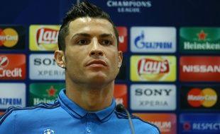Cristiano Ronaldo en conférence de presse le 16 février 2016.