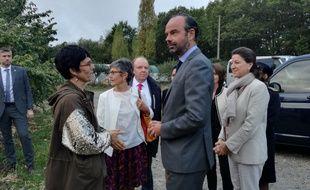 Edouard Philippe en déplacement près de Nantes les 15 octobre 2018