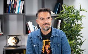 Maxime Chattam le 8 septembre 2020, chez 20 Minutes à Paris.