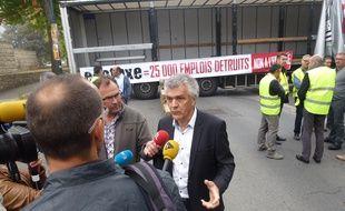 Joël Chéritel, président du Medef Bretagne, réclame la suppression du péage de transit poids lourds.