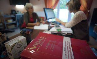 Le 09 septembre 2011. Illustration d'une consultation chez un medecin generaliste en Essonne .