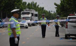 Des policiers à Fengxian en Chine (image d'illustration).