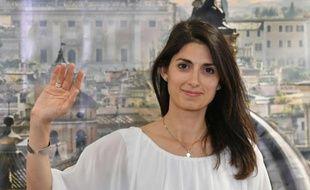 La nouvelle maire de Rome, Virginia Raggi, membre du Mouvement 5 Etoiles, lors d'une conférence de presse après sa victoire le 19 juin 2016 à Rome