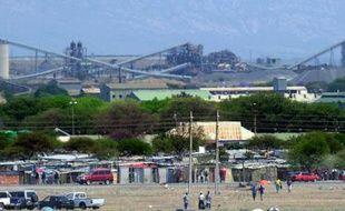 La mine de Rustenburg en Afrique du Sud, le 6 octobre 2012