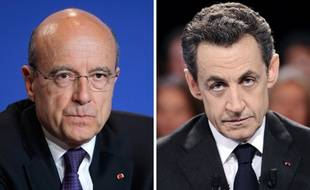 Montage d'une photo d'Alain Juppé (à gauche) et de Nicolas Sarkozy (à droite).