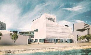 Image de synthèse du projet de musée de la mer et de la marine à Bordeaux
