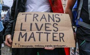 Lors d'une manifestation pour les droits des personnes trans, aux Etats-Unis. (archives)