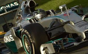 La Mercedes de Nico Rosberg, vainqueur du Grand Prix d'Australie de Formule 1, le 16 mars 2014.