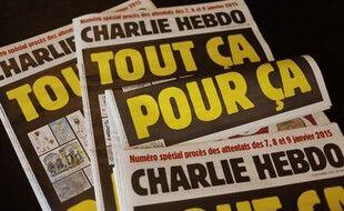 La une de Charlie Hebdo pour le début du procès des attentats de janvier 2015.