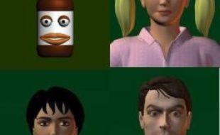 Exemples d'avatars utilisés dans les expériences de Rauh et Nowak