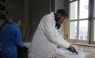 Mamadou fait partie des compagnons participant au chantier d'insertion.