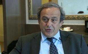 Michel Platini lors d'un entretien à AP, le 7 janvier 2016.