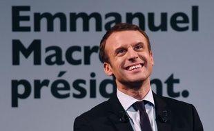Le candidat à l'élection présidentielle Emmanuel Macron, le 8 mars 2017, à Paris.