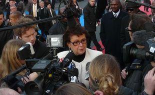 Christine Boutin, candidate à la présidentielle 2012, lors du Congrès des maires de France, le 22 janvier 2011, à Paris.
