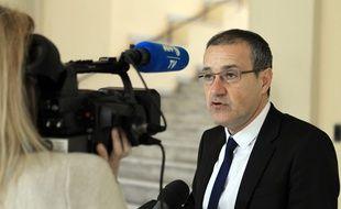 Jean-Guy Talamoni,le 30 décembre 2015 à Ajaccio. AFP / Pascal POCHARD-CASABIANCA