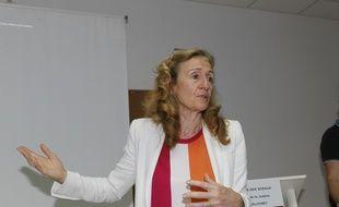 La ministre de la Justice Nicole Belloubet lors de sa visite de la prison de Baie-Mahault (Guadeloupe), en mai 2019.