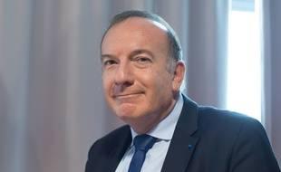 Pierre Gattaz, le Président du Medef le 18 septembre 2015. Le Medef recevait vendredi 16 octobre les représentants des principaux syndicats pour tenter de sauver les retraites complémentaires.