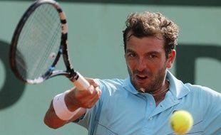 Le joueur français Julien Benneteau, lors de sa défaite à Roland-Garros contre Janko Tipsarevic, le 2 juin 2012.