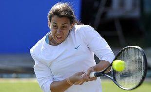 La joueuse de tennis française Marion Bartoli, lors de sa victoire à Eastbourne, le 16 juin 2011 contre Viktoria Azarenka.