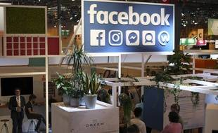 Le16 juin 2017, le stand Facebook à Vivatech. (AP Photo/Thibault Camus).