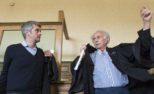 """Renaud (à gauche) et Gilles-Jean Portejoie, les avocats de Cécile Bourgeon lors du procès en appel consacré à """"l'affaire Fiona"""""""