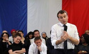 Emmanuel Macron à Evry-Courcouronnes, ce lundi 4 février, dans le cadre du grand débat national.