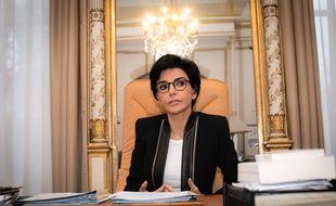 Rachida Dati, candidate LR à Paris, dans son bureau de la mairie du VIIe arrondissement.