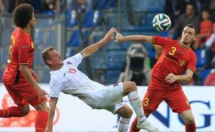 Thomas Vermaelen lors du match amical Belgique-Luxembourg, le 26 mai 2014.