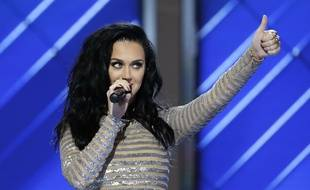 Katy Perry à la convention du Parti démocrate américain le 28 juillet 2016