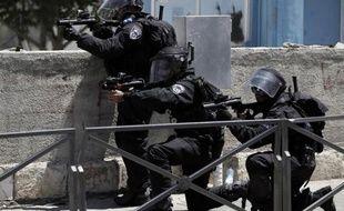 La police israélienne le 1er août 2014 à Jérusalem