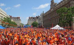 Les supporters néerlandais ont débarqué en nombre à Valenciennes pour le Mondial