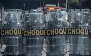 La police brésilienne en démonstration en novembre 2015.