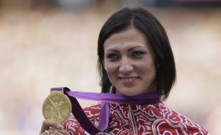 La championne olympique 2012 du 400 m haies Natalia Antyukh.
