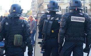 Illustration de gendarmes, ici lors d'une manifestation.