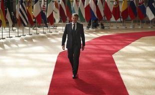 Emmanuel Macron à Bruxelles le 19 juillet 2020.