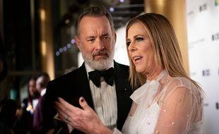 Tom Hanks et Rita Wilson au Kennedy Center Honors, à Washington, le 8 décembre 2019.