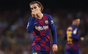 Antoine Griezmann sous le maillot du Barça, le 24 septembre 2019.