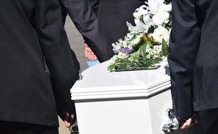 Un cercueil. Illustration.