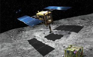 La sonde japonaise Hayabusa 2 doit larguer MASCOT sur l'astéroïde dans la nuit du 2 au 3 octobre 2018.