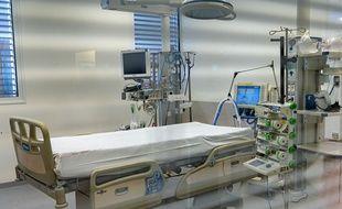 Un lit pour patient du Covid-19 (illustration)