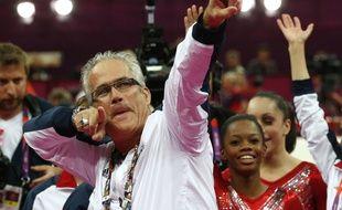 Le coach de l'équipe de gym féminine américaine John Geddert aux JO de Londres, le 31 juillet 2012.