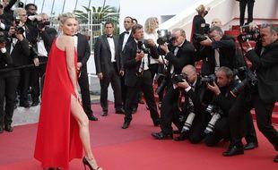 """Kate Moss sur le tapis rouge du film """"Loving,"""" le 16 mai à Cannes -AP Photo/Thibault Camus"""