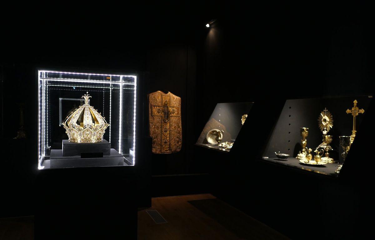 La couronne a été dérobée dans la nuit de samedi à dimanche. – Fondation Fourvière