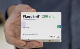 Le Plaquenil est un médicament à base d'hydroxychloroquine commercialisé par les laboratoires Sanofi (Illustration)