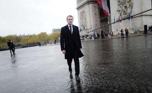 Emmanuel Macron lors de la commémoration de l'Armistice le 11 novembre 2017 à Paris.