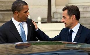 Barack Obama et Nicolas Sarkozy, à Paris, le 25 juillet 2008