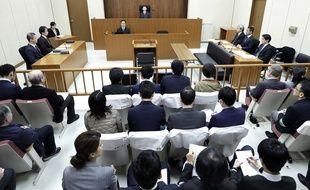 C'est le juge Yuichi Tada qui préside l'audience pour la première apparition de Carlos Ghosn devant le tribunal, le 8 janvier 2019.