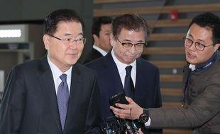 Chung Eui-yong, conseiller national sud-coréen à la Sécurité est en visite aux Etats-Unis.